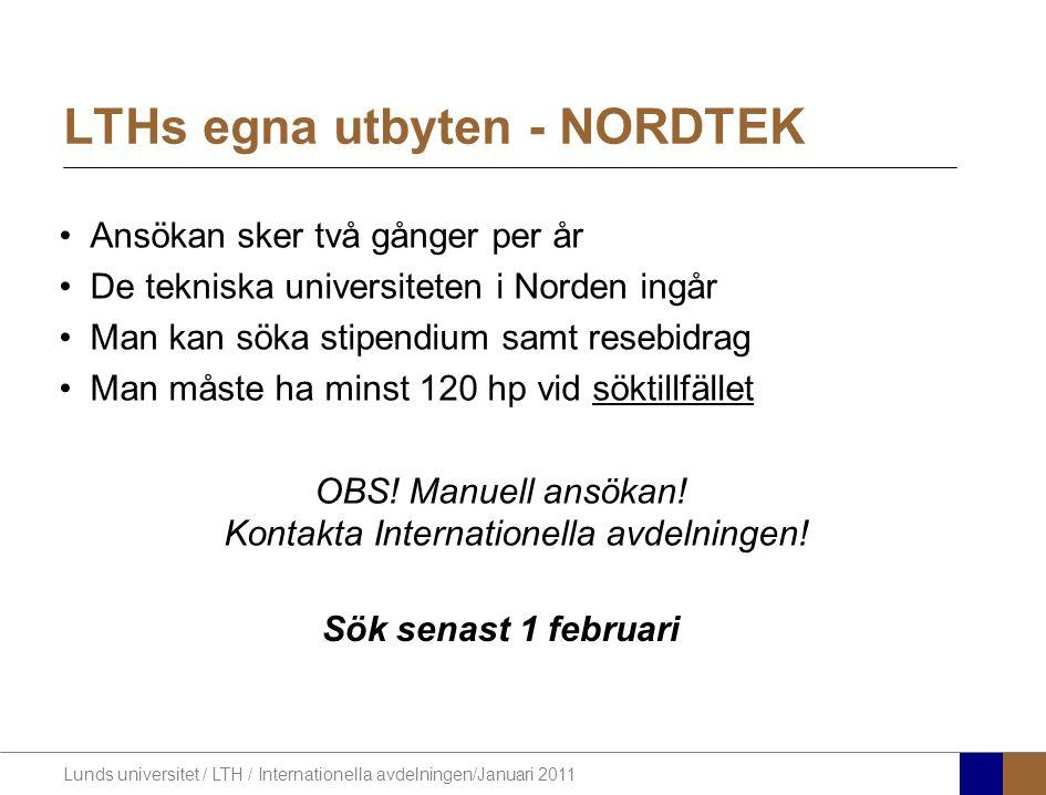 LTHs egna utbyten - NORDTEK
