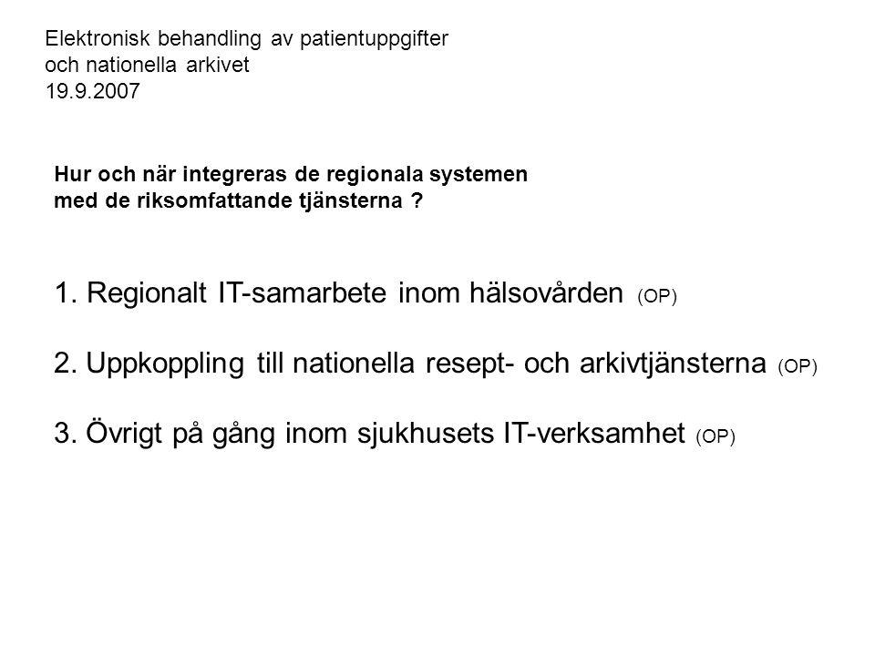 Regionalt IT-samarbete inom hälsovården (OP)