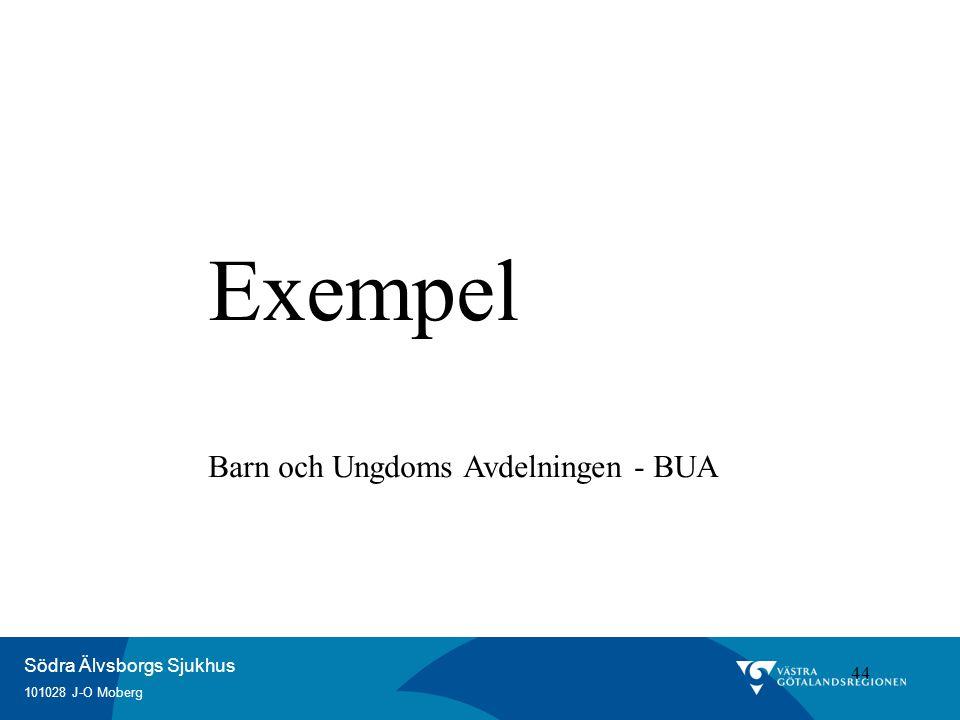 Exempel Barn och Ungdoms Avdelningen - BUA 44