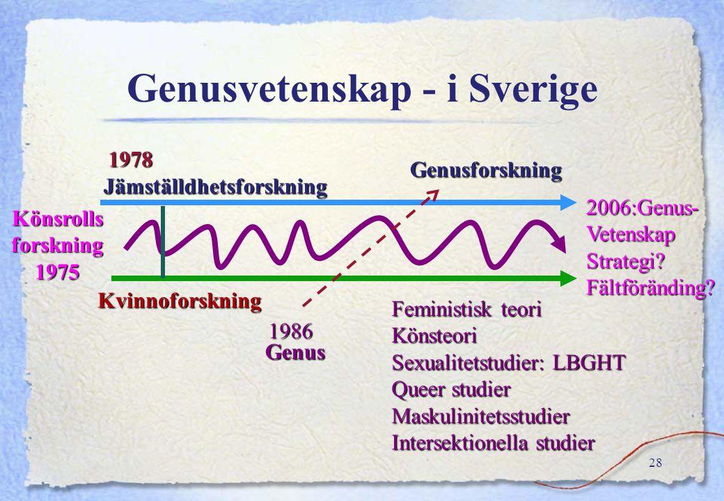 Genusvetenskap - i Sverige