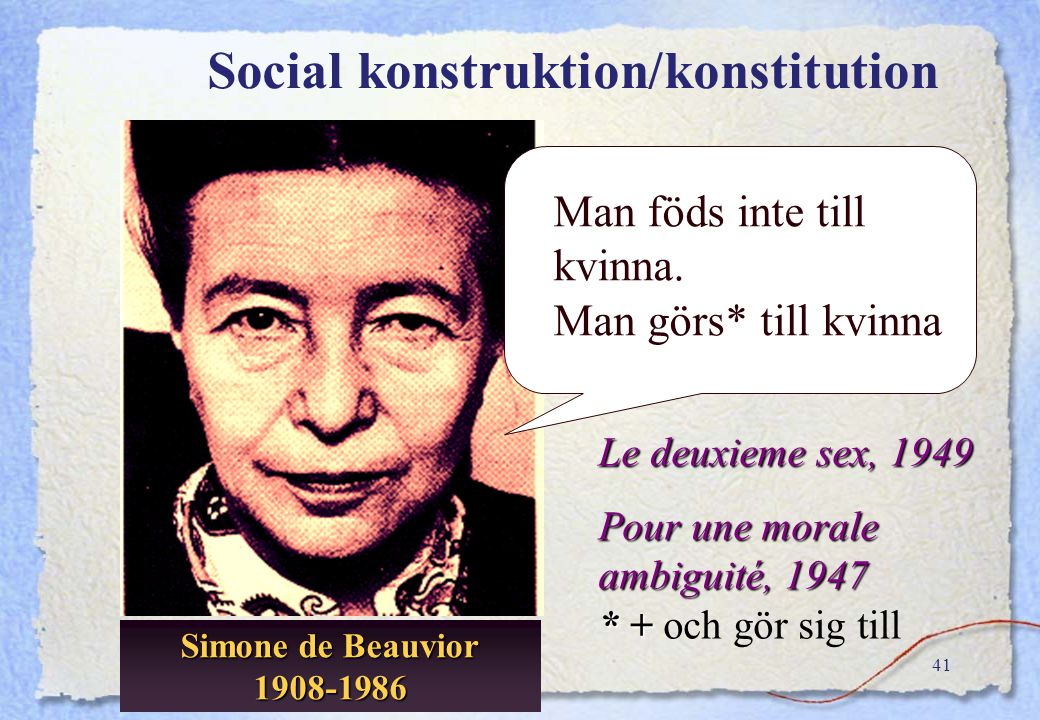 Social konstruktion/konstitution