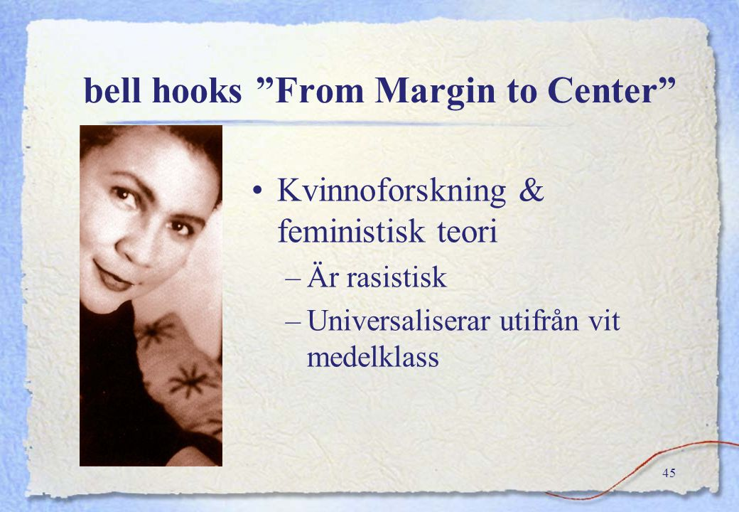 bell hooks From Margin to Center