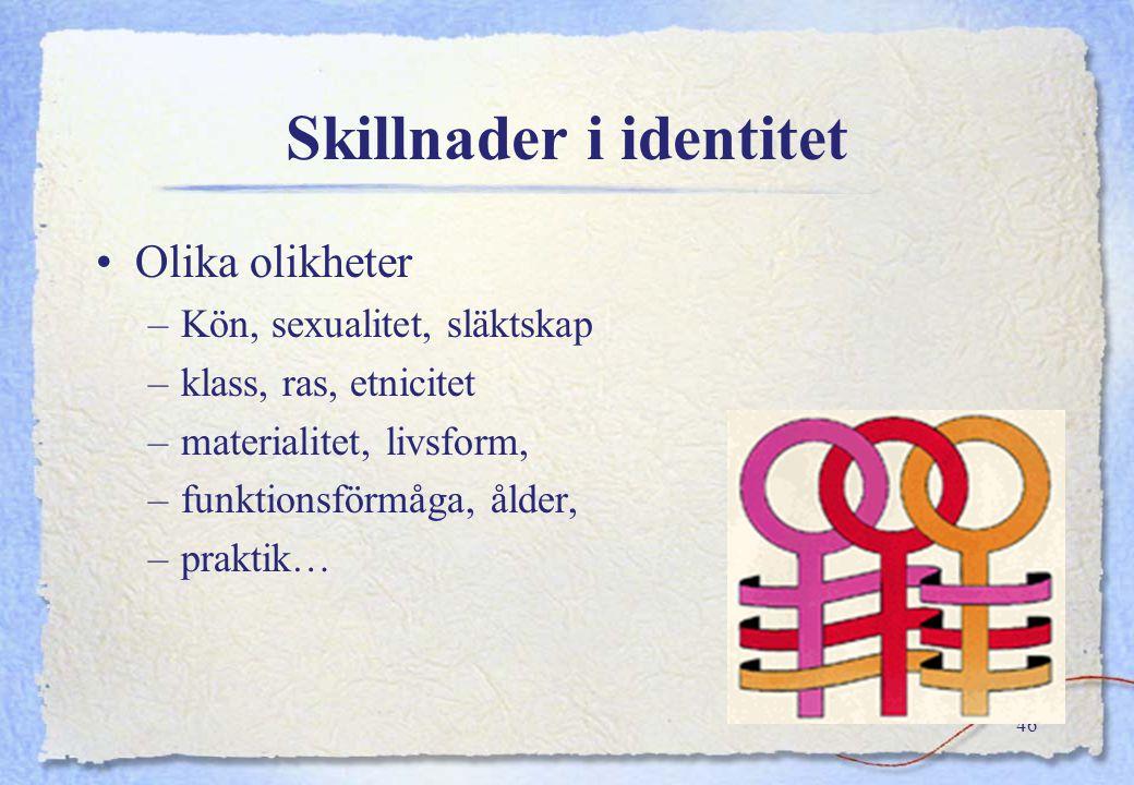 Skillnader i identitet
