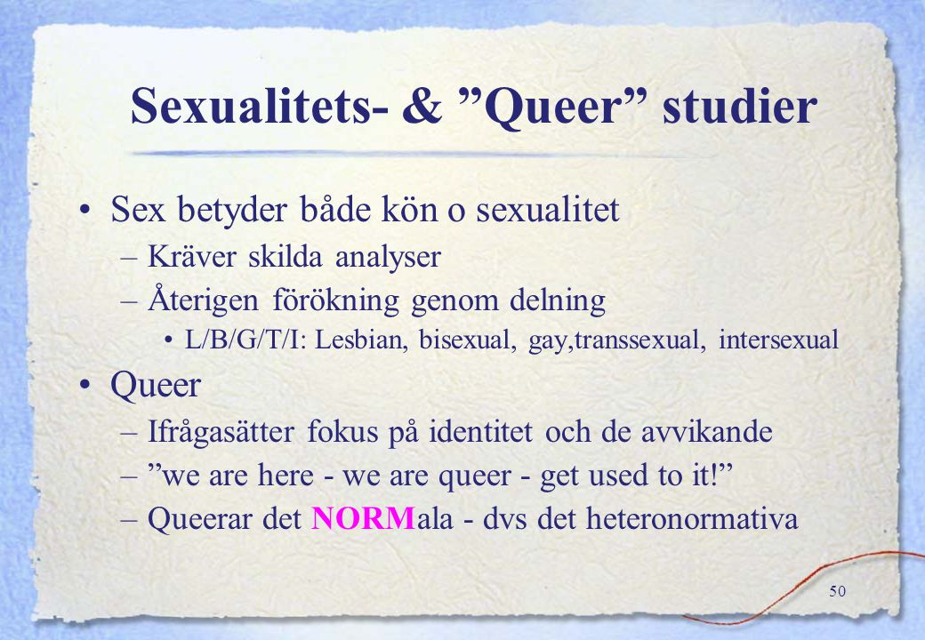 Sexualitets- & Queer studier