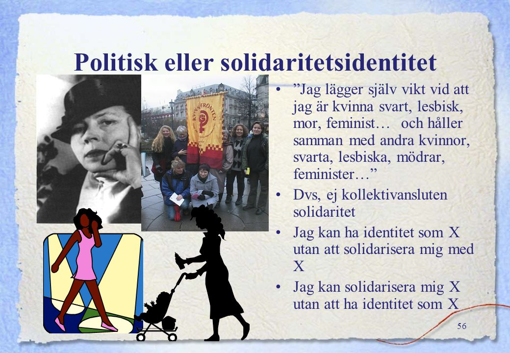 Politisk eller solidaritetsidentitet