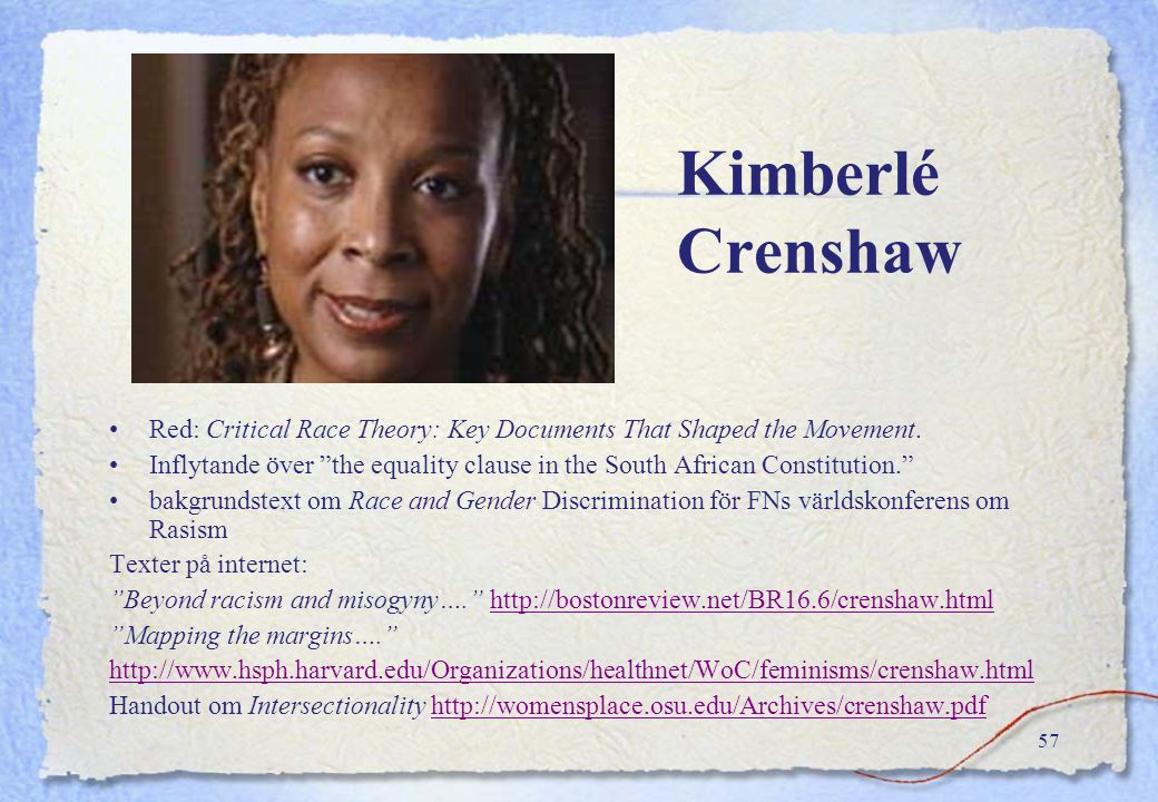 Kimberlé Crenshaw Red: Critical Race Theory: Key Documents That Shaped the Movement.