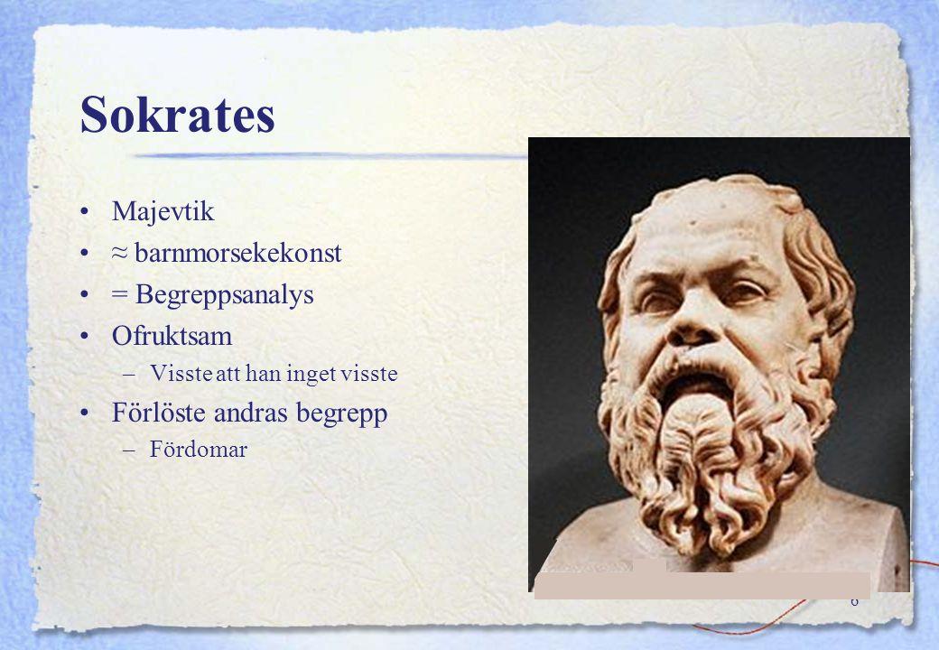 Sokrates Majevtik ≈ barnmorsekekonst = Begreppsanalys Ofruktsam
