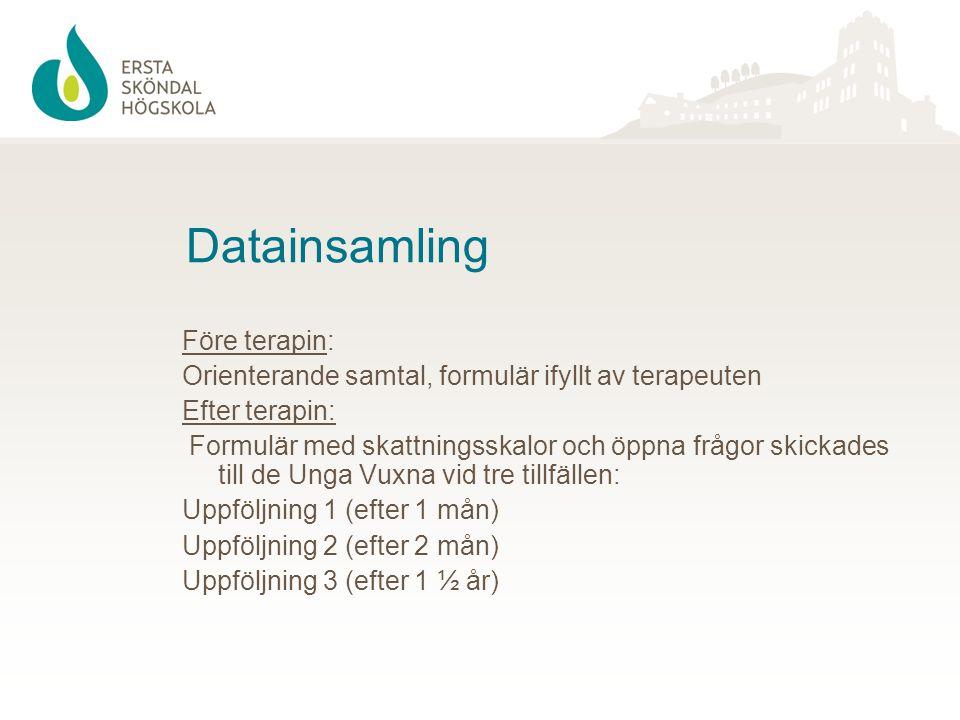 Datainsamling Före terapin: