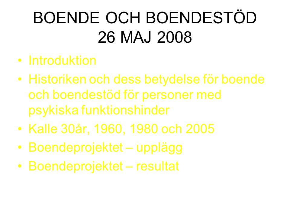 BOENDE OCH BOENDESTÖD 26 MAJ 2008