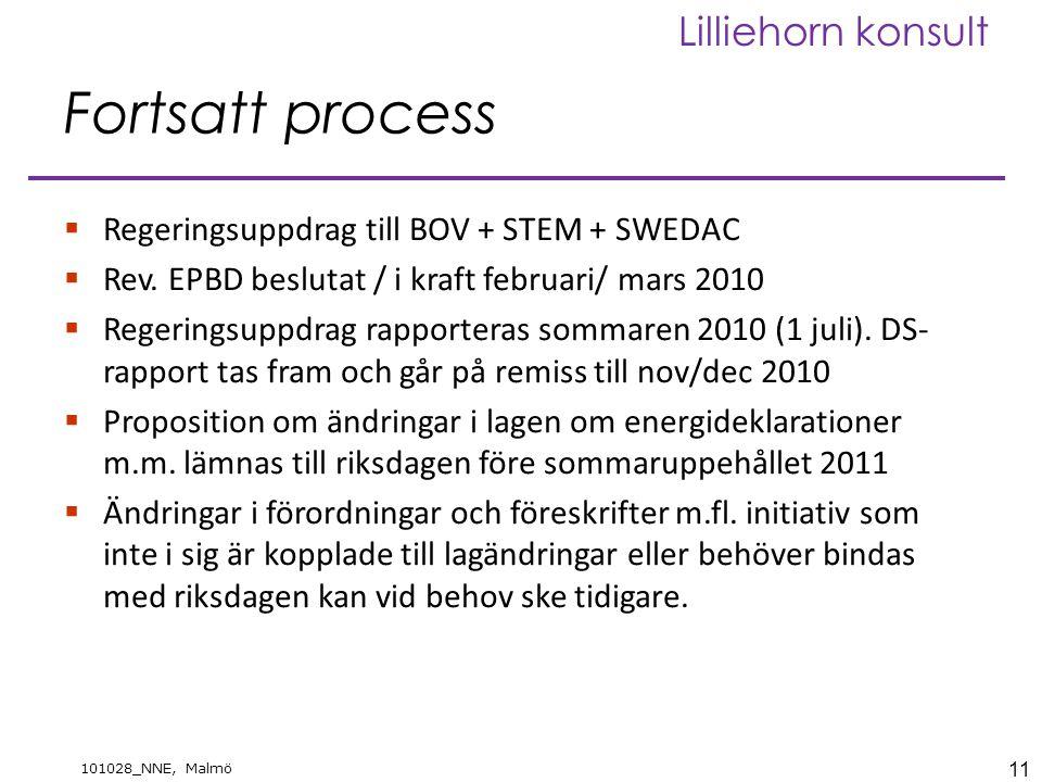 Fortsatt process Regeringsuppdrag till BOV + STEM + SWEDAC