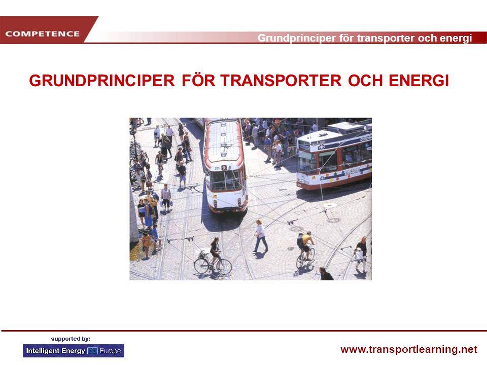 GRUNDPRINCIPER FÖR TRANSPORTER OCH ENERGI