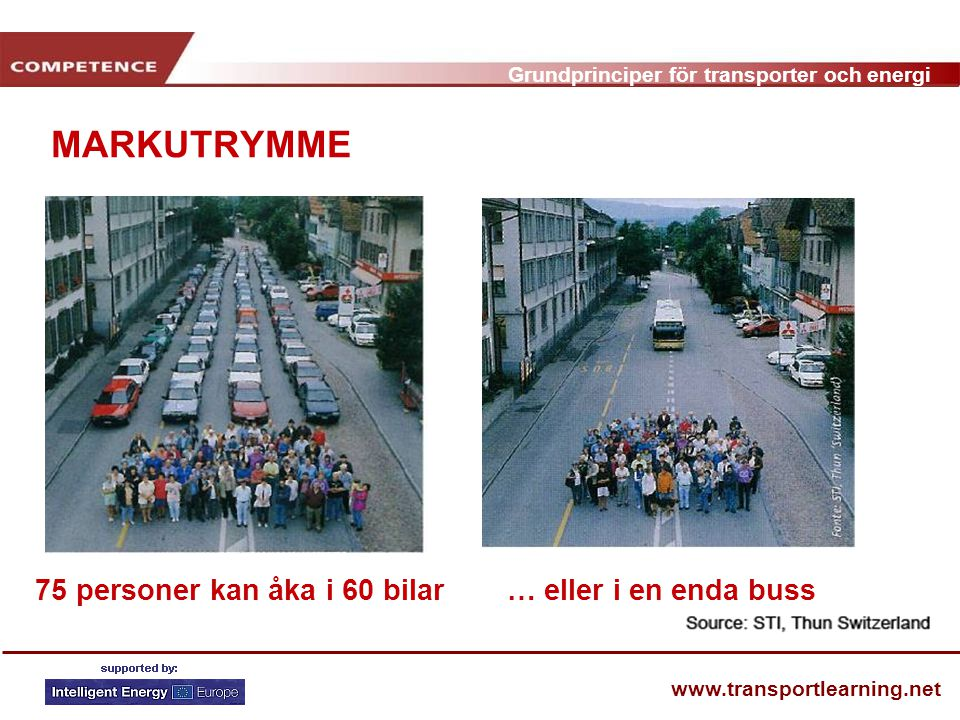 MARKUTRYMME 75 personer kan åka i 60 bilar … eller i en enda buss