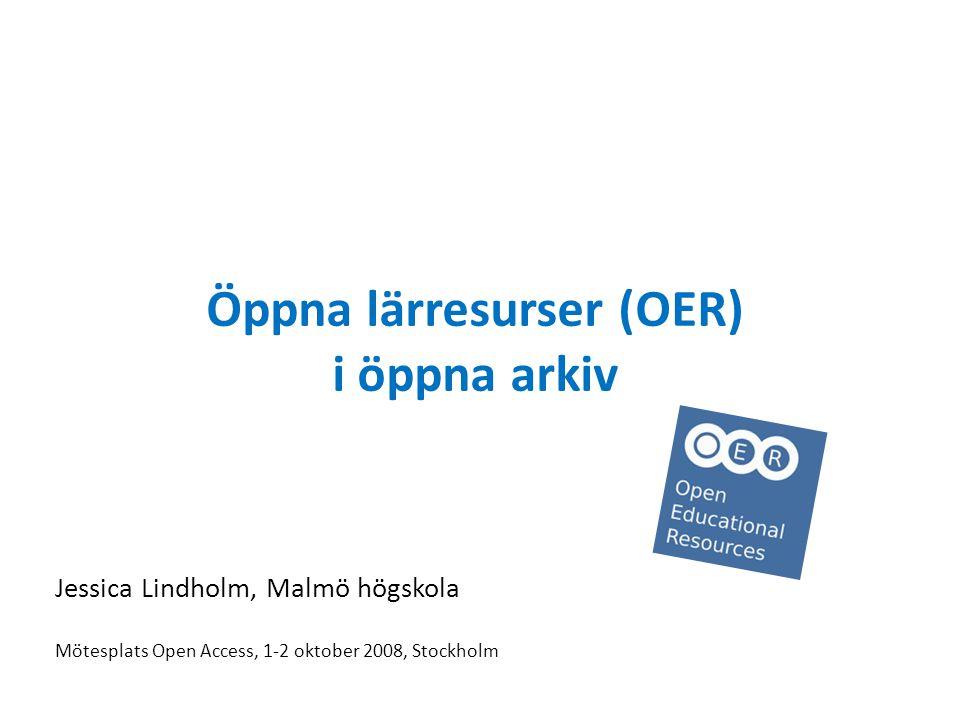 Öppna lärresurser (OER) i öppna arkiv