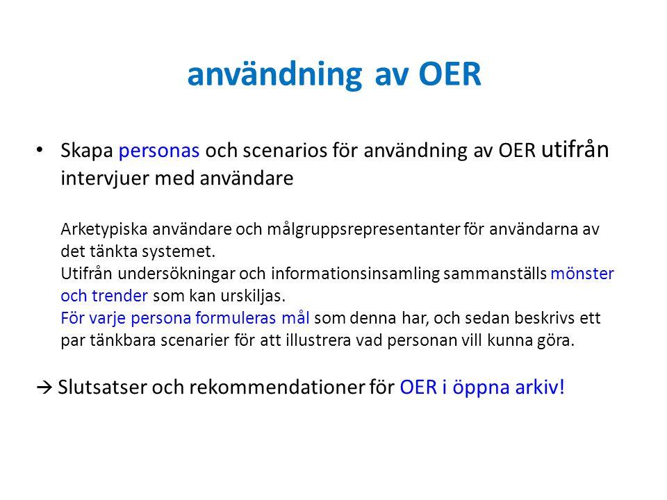 användning av OER