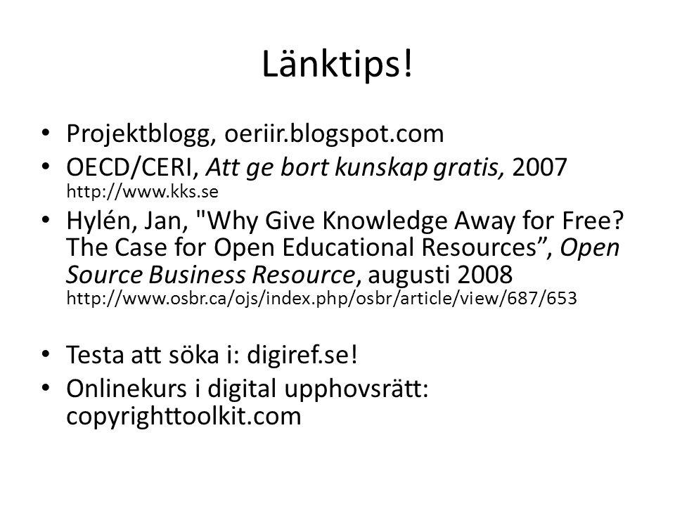 Länktips! Projektblogg, oeriir.blogspot.com