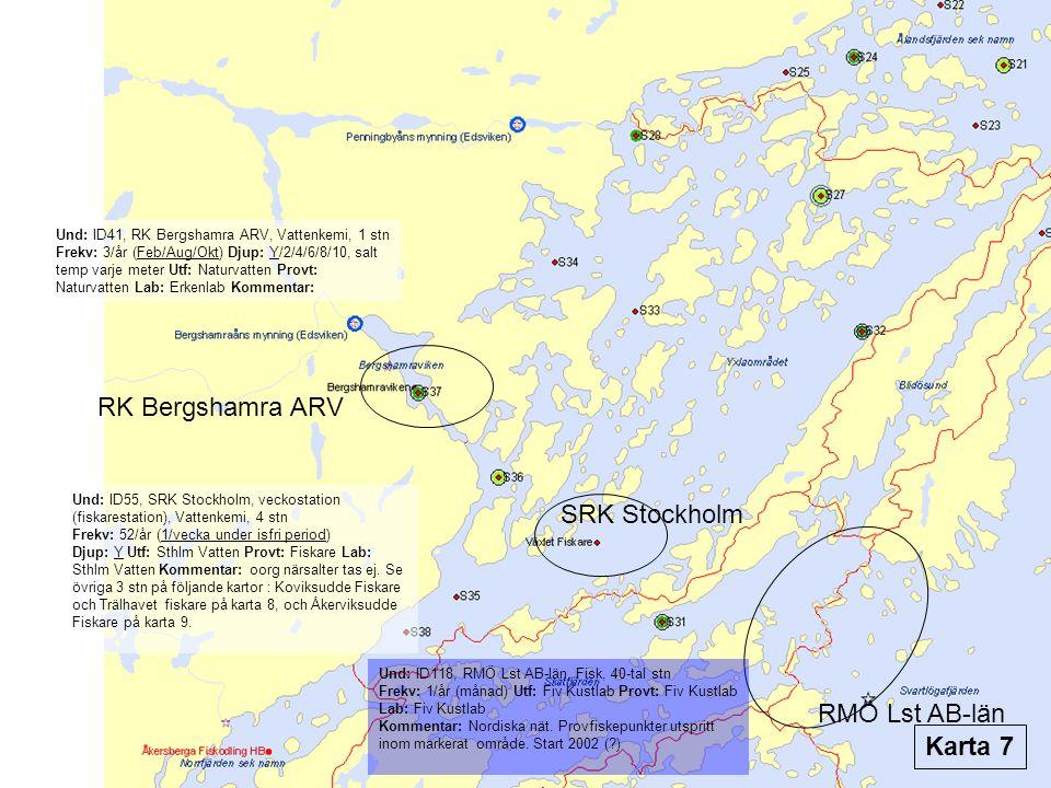 RK Bergshamra ARV SRK Stockholm RMÖ Lst AB-län Karta 7