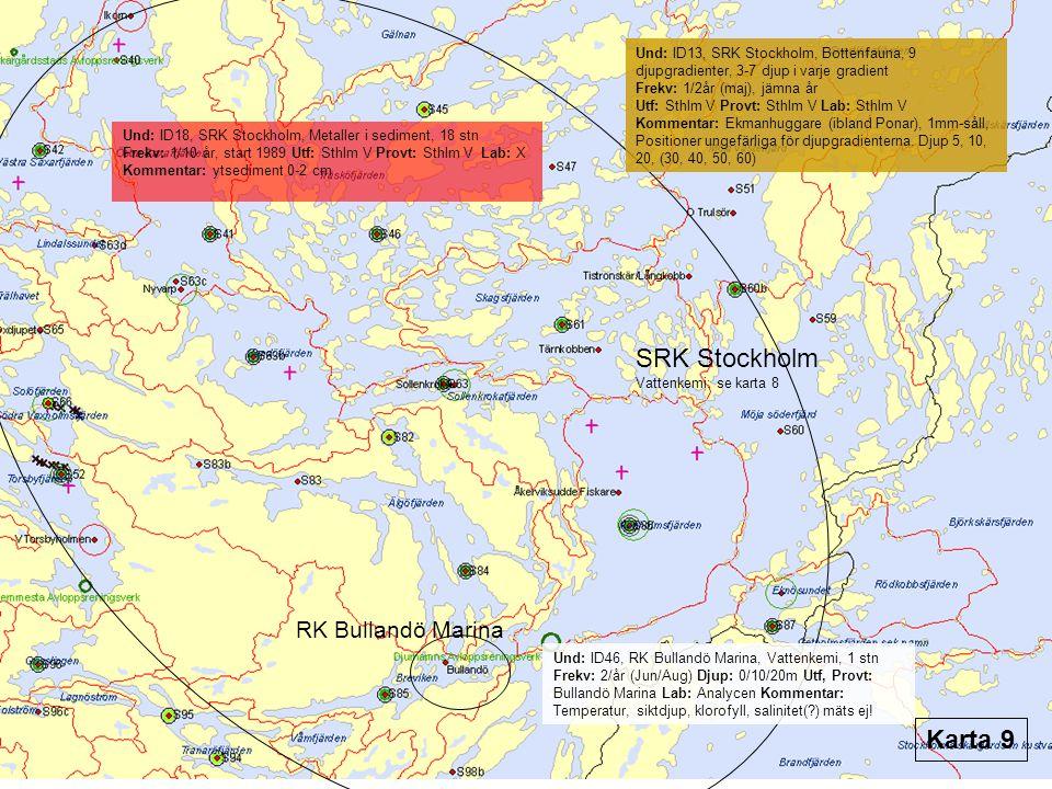 SRK Stockholm Karta 9 RK Bullandö Marina