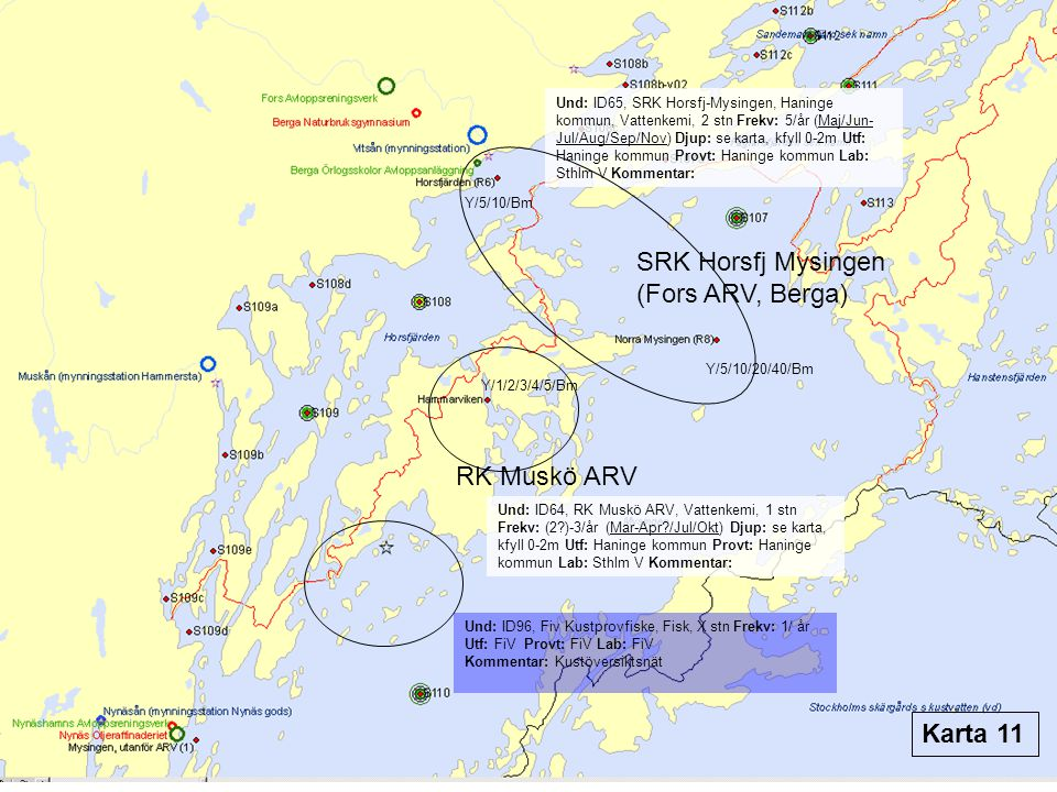 SRK Horsfj Mysingen (Fors ARV, Berga) RK Muskö ARV Karta 11