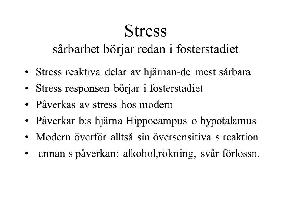 Stress sårbarhet börjar redan i fosterstadiet