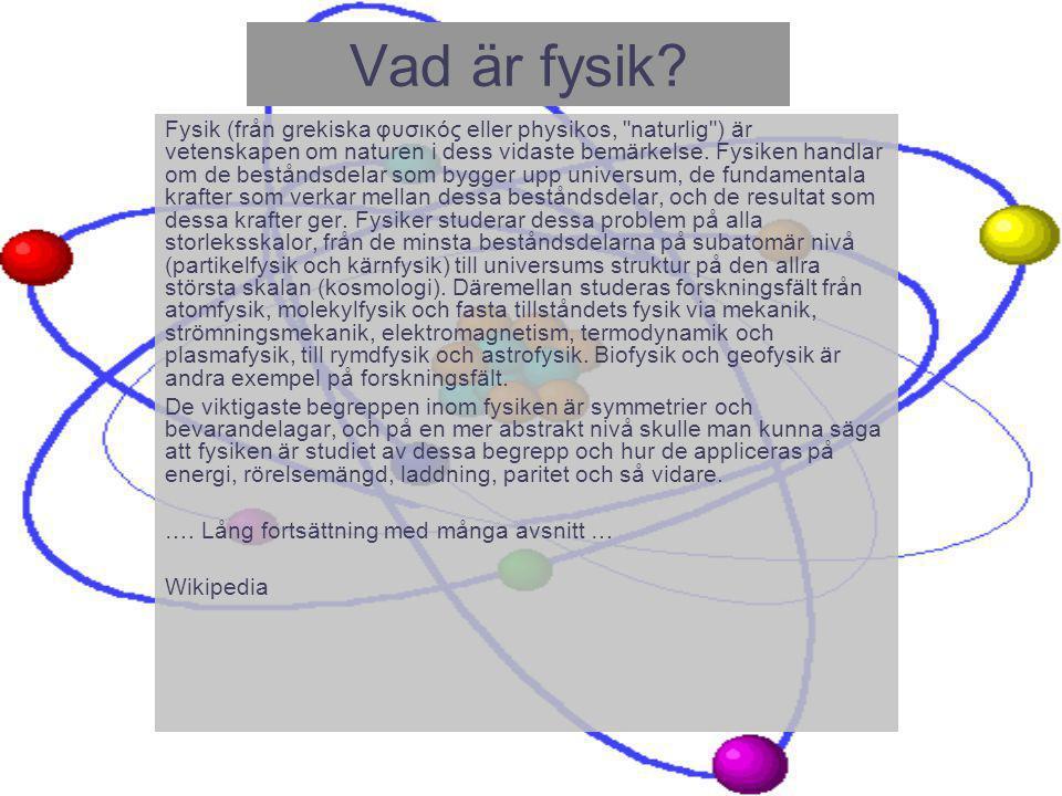 Vad är fysik