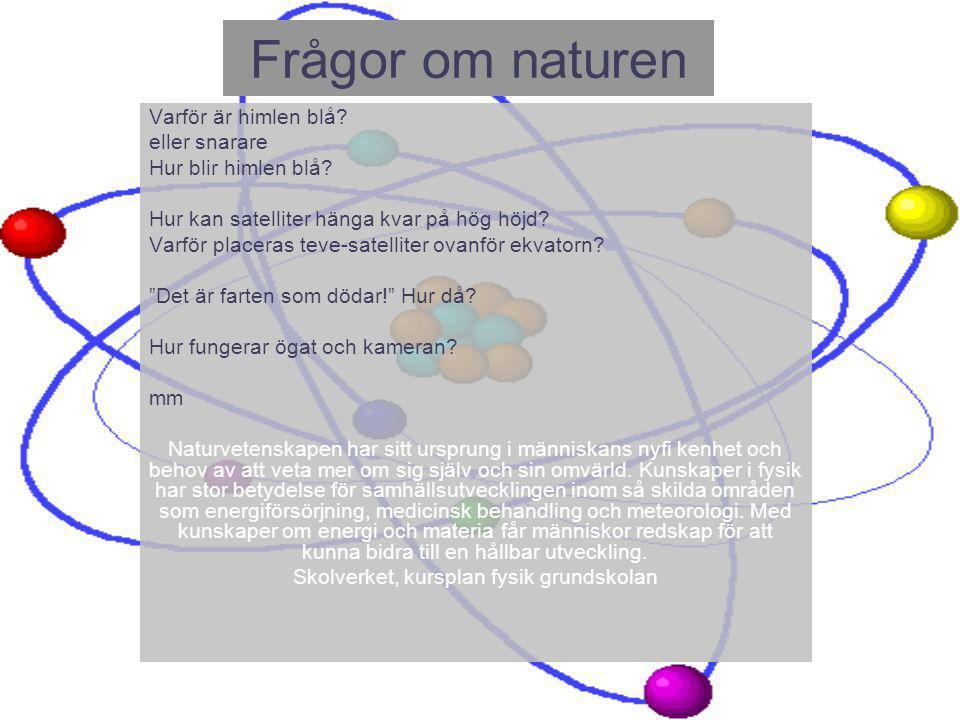 Skolverket, kursplan fysik grundskolan