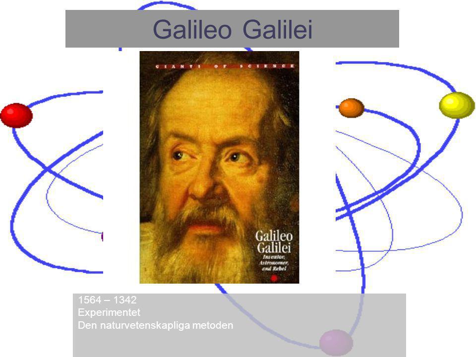 1564 – 1342 Experimentet Den naturvetenskapliga metoden