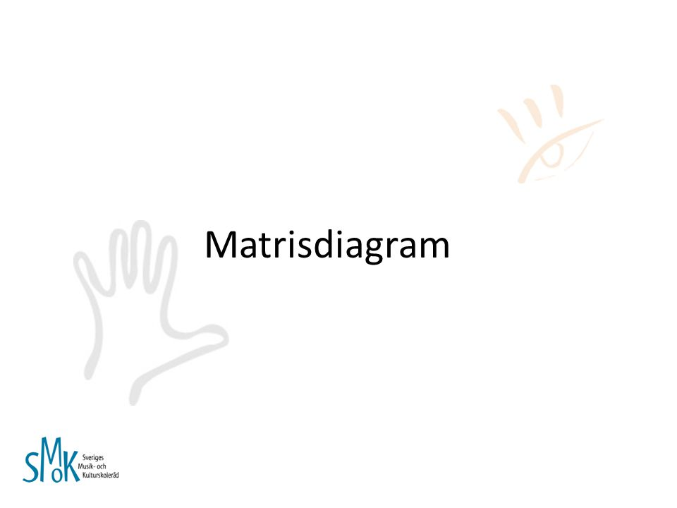 Matrisdiagram Handboken s. 34-35