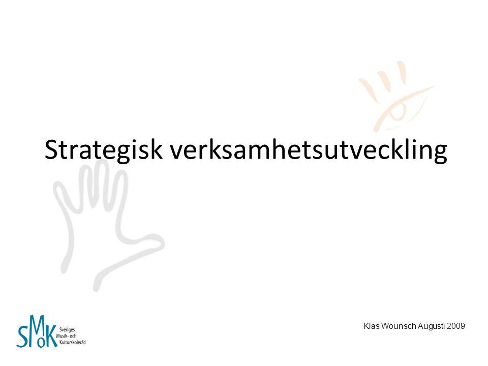 Strategisk verksamhetsutveckling