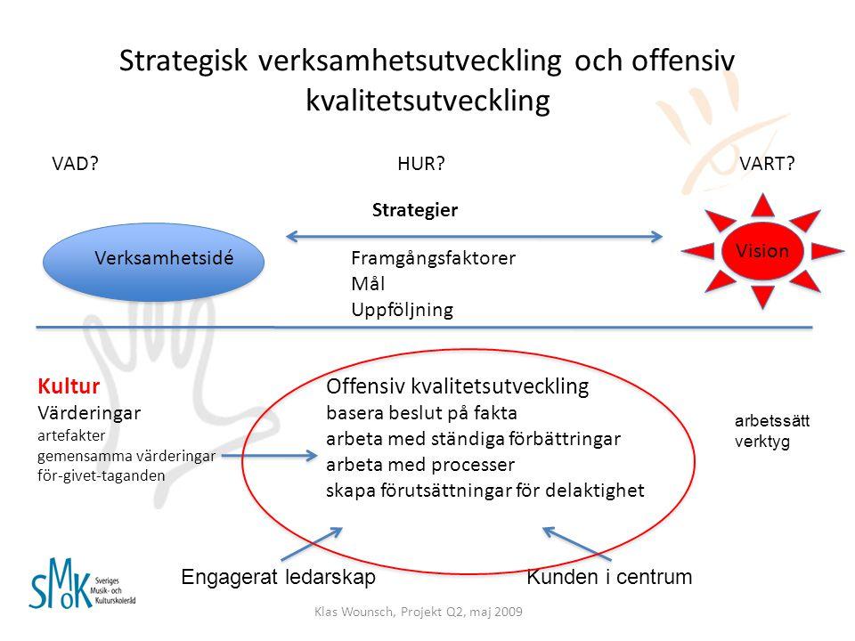 Strategisk verksamhetsutveckling och offensiv kvalitetsutveckling