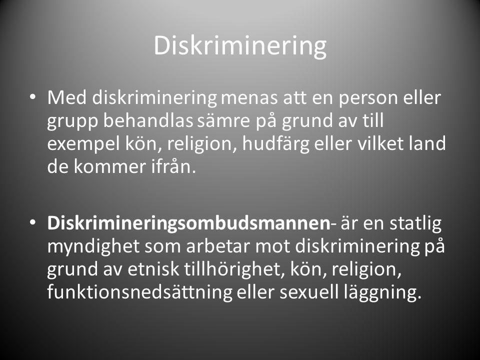 Diskriminering