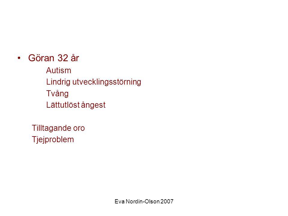 Göran 32 år Autism Lindrig utvecklingsstörning Tvång Lättutlöst ångest