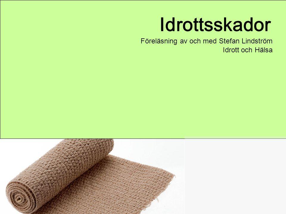Idrottsskador Föreläsning av och med Stefan Lindström Idrott och Hälsa