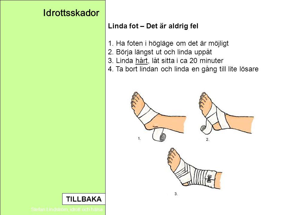 Idrottsskador Linda fot – Det är aldrig fel