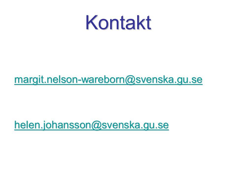 Kontakt margit.nelson-wareborn@svenska.gu.se