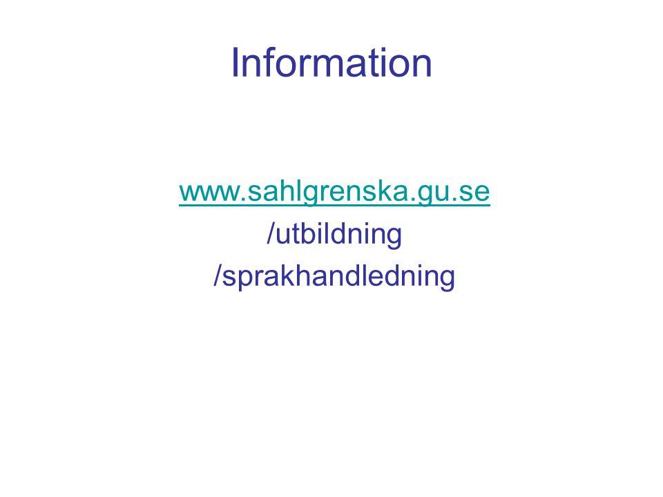www.sahlgrenska.gu.se /utbildning /sprakhandledning