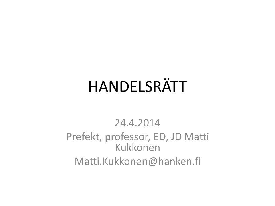 Prefekt, professor, ED, JD Matti Kukkonen