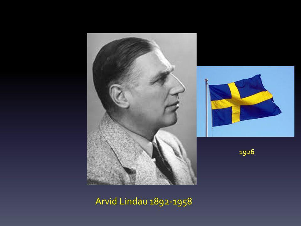 1926 Arvid Lindau 1892-1958