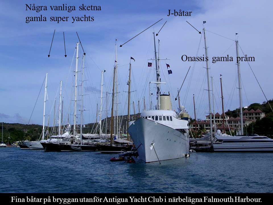 Några vanliga sketna gamla super yachts J-båtar