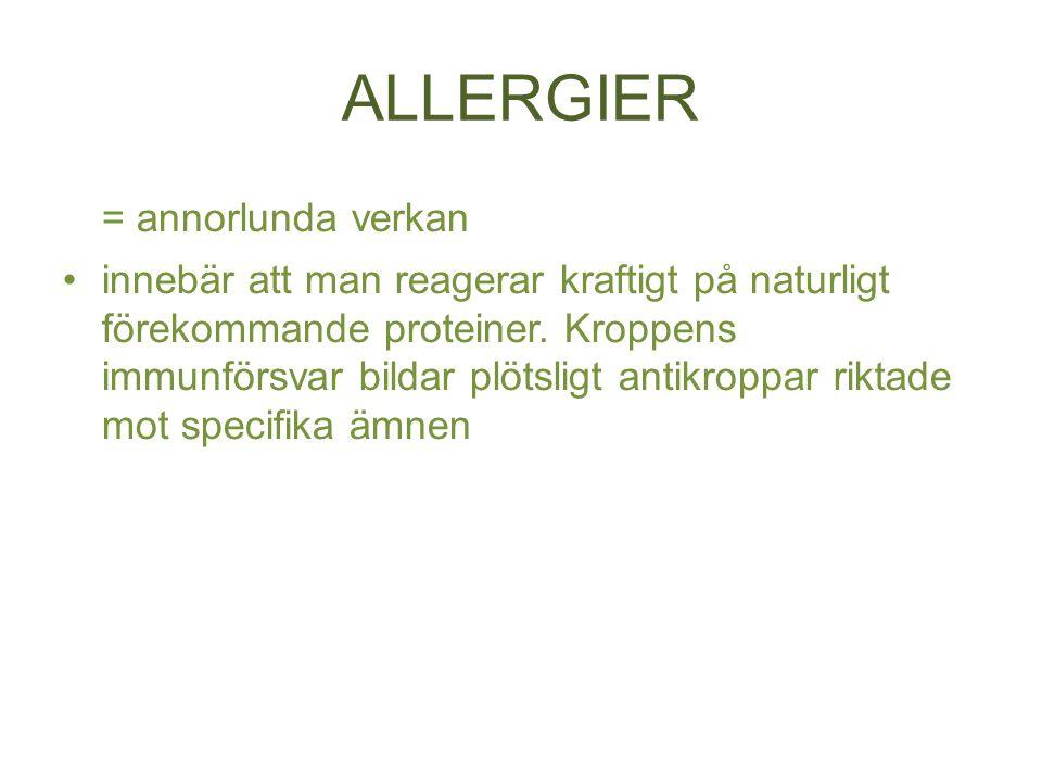 ALLERGIER = annorlunda verkan