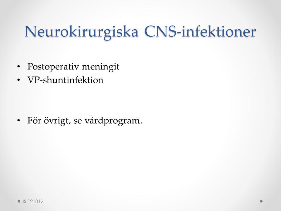Neurokirurgiska CNS-infektioner