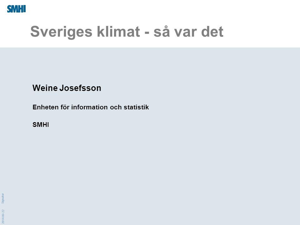 Sveriges klimat - så var det
