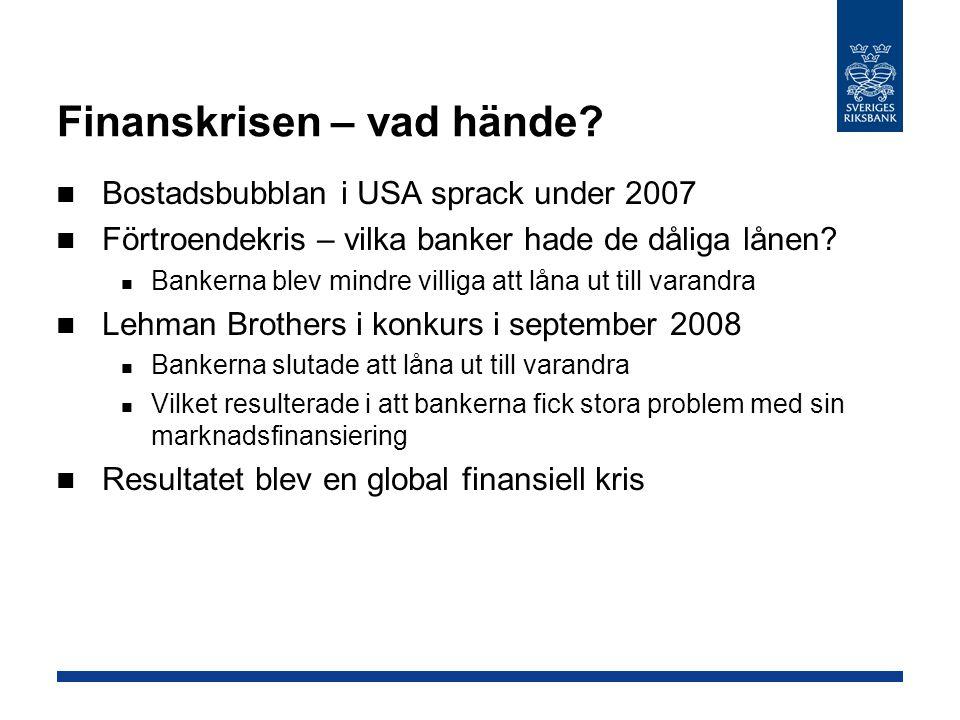 Finanskrisen – vad hände