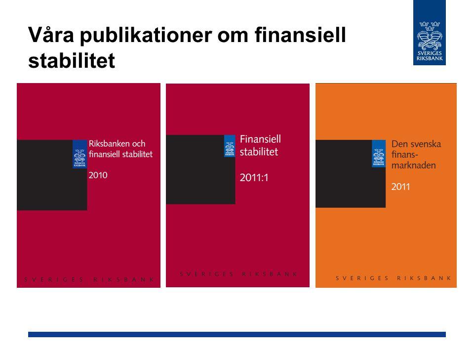 Våra publikationer om finansiell stabilitet