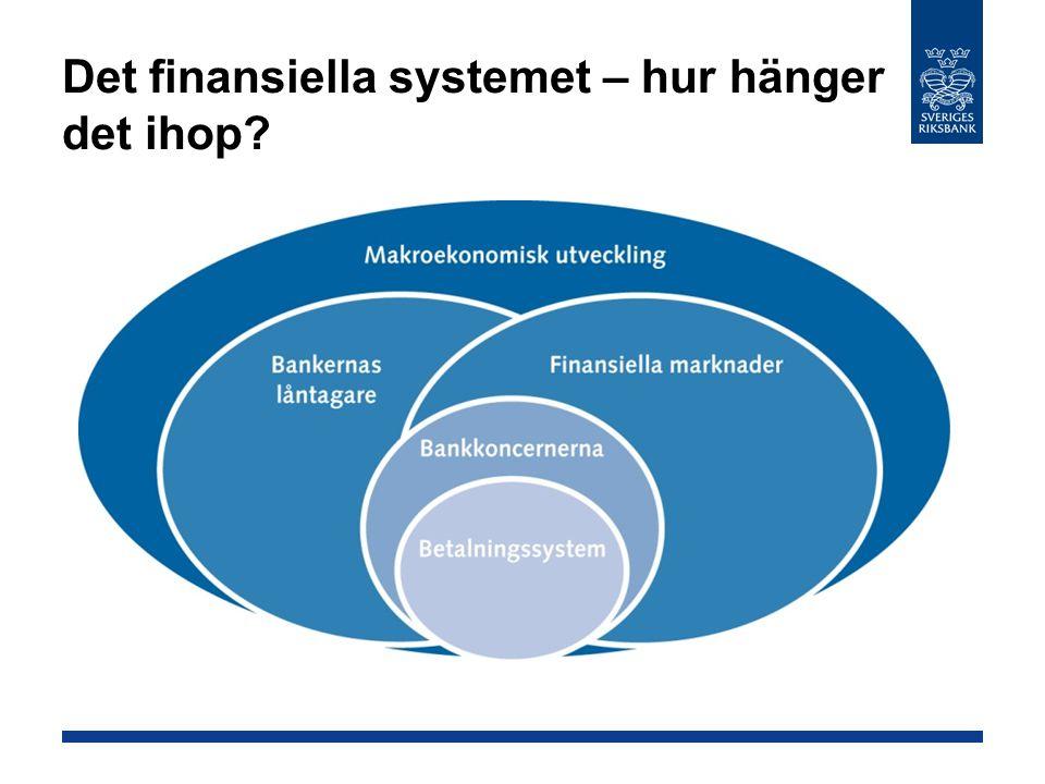 Det finansiella systemet – hur hänger det ihop