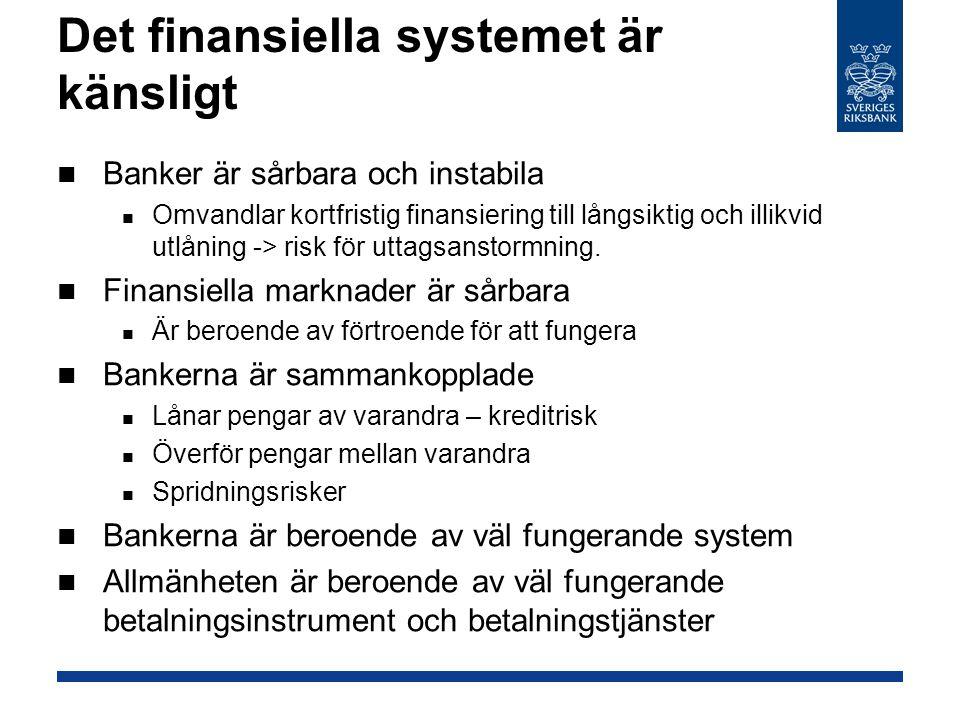 Det finansiella systemet är känsligt
