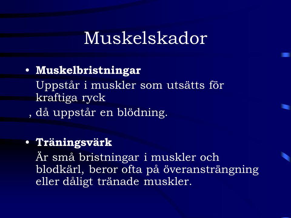 Muskelskador Muskelbristningar