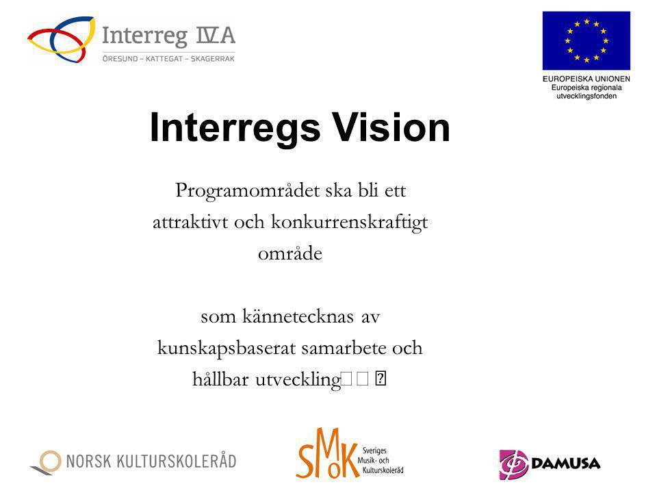 Interregs Vision Programområdet ska bli ett