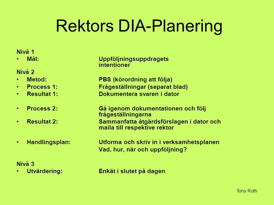 Rektors DIA-Planering