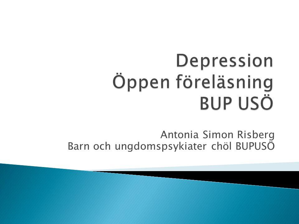 Depression Öppen föreläsning BUP USÖ