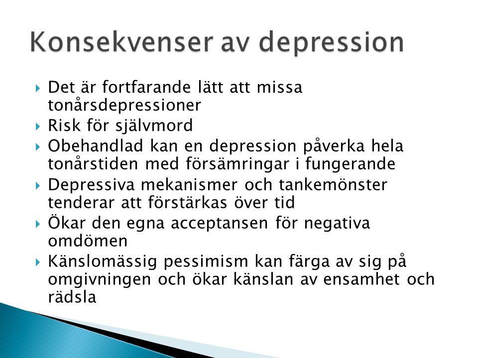 Konsekvenser av depression